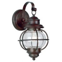 Kenroy Home Hatteras 14-Inch Outdoor Wall Lantern in Copper