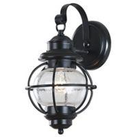 Kenroy Home Hatteras 14-Inch Outdoor Wall Lantern in Black