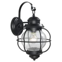 Kenroy Home Hatteras 15-Inch Outdoor Wall Lantern in Black
