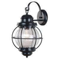 Kenroy Home Hatteras 17-Inch Outdoor Wall Lantern In Black