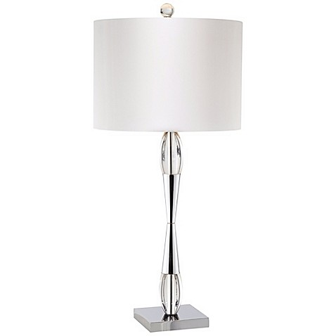 Pacific CoastR Lighting Slim Table Lamp In Silver
