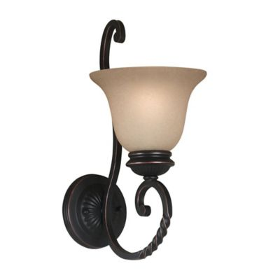 Bathroom Wall Sconces Bronze buy oil rubbed bronze wall sconce from bed bath & beyond