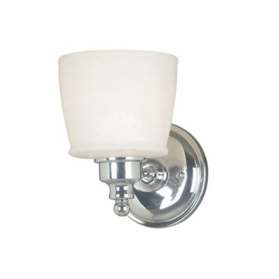 Wall Lamps Bed Bath Beyond : Kenroy Home Riley 1-Light Bath Wall Sconce in Chrome - Bed Bath & Beyond