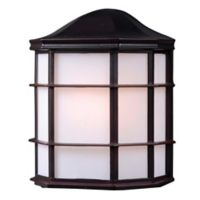 Kenroy Home Alcove Outdoor 1-Light Wall Lantern in Bronze