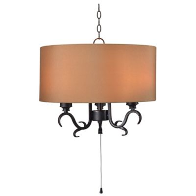 Kenroy home clairmont 3 light outdoor pendant in bronze