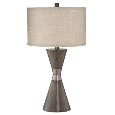 Pacific Coast Lighting Kathy Ireland Home Two Cone Table Lamp In Brown