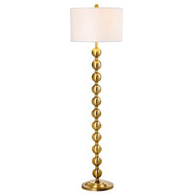 fangio lighting heater cube. safavieh reflections 1-light floor lamp in brass fangio lighting heater cube