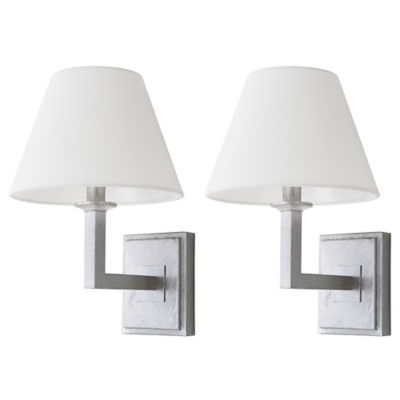 Wall Lamps Bed Bath Beyond : Safavieh Pauline 1-Light Wall Sconce in Silver (Set of 2) - Bed Bath & Beyond