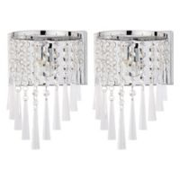 Safavieh Tilly 1-Light Wall Sconce in Chrome/Clear (Set of 2)