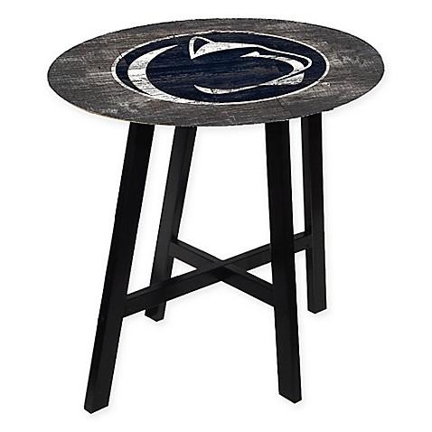 Penn State University Distressed Wood Pub Table