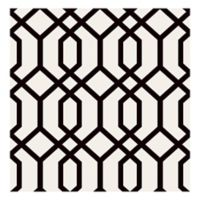 Trellis Montauk Removable Wallpaper in Black