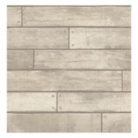 Nailhead Plank Removable Wallpaper in Weathered Grey