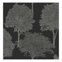 Tree Tops Photographic Removable Wallpaper in Black