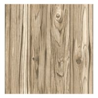 Brewster Home Fashions Paneling Wide Plank Wallpaper in Brown