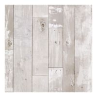 Heim Distressed Wood Panel Wallpaper in White