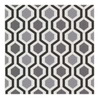 Marina Modern Geometric Wallpaper in Black