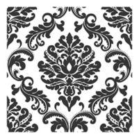 Nuwallpaper Damask Peel And Stick Wallpaper in Black