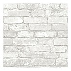Nuwallpaper™ Brick Peel And Stick Wallpaper in Grey