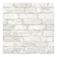 Nuwallpaper™ Brick Peel And Stick Wallpaper in Grey
