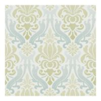 Nuwallpaper™ Nouveau Damask Peel And Stick Wallpaper in Green