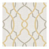 NuWallpaper™ Sausalito Peel & Stick Wallpaper in Taupe/Yellow