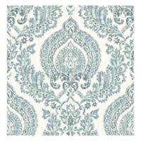 Nuwallpaper™ Kensington Damask Peel & Stick Wallpaper in Blue