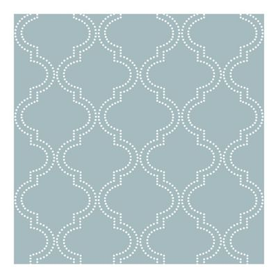 NuwallpaperTM Quatrefoil Peel Stick Wallpaper In Slate Blue