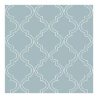 Nuwallpaper™ Quatrefoil Peel & Stick Wallpaper in Slate Blue