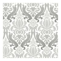 Nuwallpaper™ Nouveau Damask Peel And Stick Wallpaper in Grey