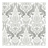 Nuwallpaper™ Nouveau Damask Peel And Stick Wallpaper in Grey