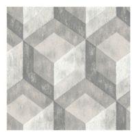 Nuwallpaper™ Bauhaus Weathered Wood Peel And Stick Wallpaper in Grey