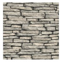 Brewster Home Fashions Ledge Slate Wallpaper in Grey