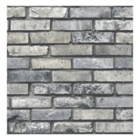 Brewster Home Fashions Painted Brick Wallpaper in Grey