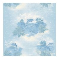 Brewster Home Fashions Alcott Tropical Dolphin Wallpaper in Blue