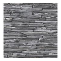 A-Street Prints Reclaimed Stacked Slate Wallpaper in Charcoal