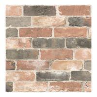 A-Street Prints Reclaimed Bricks Wallpaper in Dusty Red