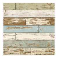 A-Street Prints Reclaimed Scrap Wood Wallpaper in Sky Blue