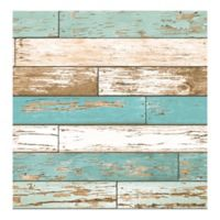 A-Street Prints Scrap Wood Wallpaper in Turquoise