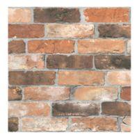 A-Street Prints Reclaimed Bricks Wallpaper in Orange