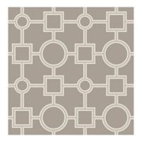 A-Street Prints Matrix Geometric Wallpaper in Taupe
