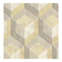 A-Street Prints Rustic Wood Tile Wallpaper in Honey