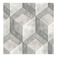 A-Street Prints Reclaimed Rustic Wood Tile Wallpaper in Ash