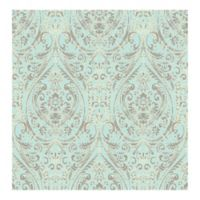 A-Street Prints Kismet Gypsy Damask Wallpaper in Turquoise