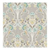 A-Street Prints Kismet Willow Nouveau Floral Wallpaper in Grey