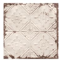 A-Street Prints Antique Ceiling Distressed Tile Wallpaper in Beige