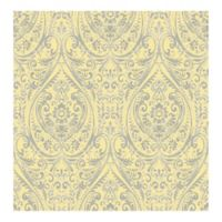 A-Street Prints Kismet Gypsy Damask Wallpaper in Yellow