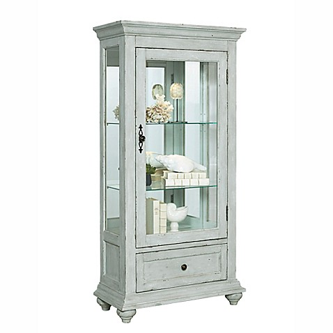 bathroom curio cabinet pulaski curio cabinet in distressed white bed 11465