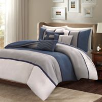 Madison Park Palisades Full/Queen Duvet Set in Blue