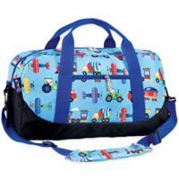 Olive Kids™ Trains, Planes, & Trucks Duffel Bag in Blue