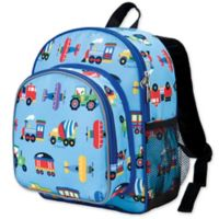 Olive Kids Trains, Planes Pack 'N Snack Backpack in Blue